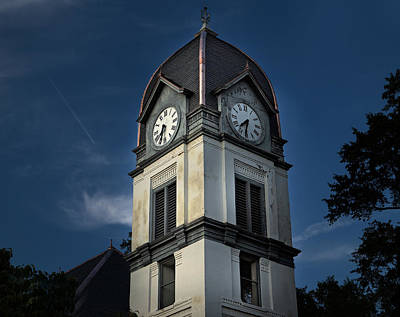Photograph - Fayette County Courthouse by Sally Simon