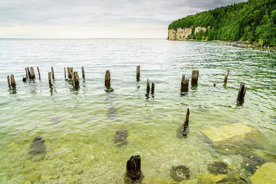 Photograph - Fayette State Park Shoreline by Alexey Stiop