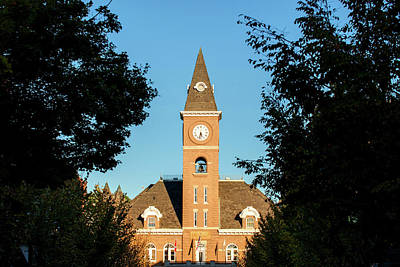 University Of Arkansas Photograph - Fayetteville Arkansas Downtown Courthouse At Sunset by Gregory Ballos