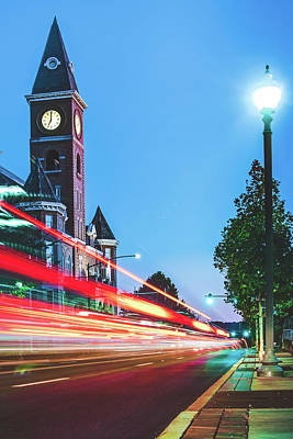 Photograph - Fayetteville Arkansas Skyline And Lights by Gregory Ballos