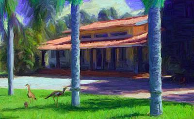 Thomas Kinkade Royalty Free Images - Farm Main House 1 Royalty-Free Image by Caito Junqueira