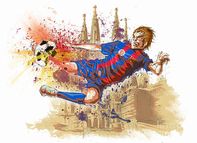 Barcelona Drawing - Fc Barcelona by Tuan HollaBack
