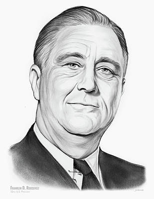 Drawing - FDR by Greg Joens