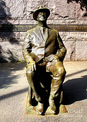 Photograph - Fdr Memorial 1 by Randall Weidner