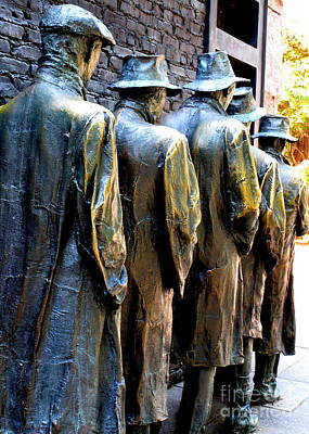 Bread Line Photograph - Fdr Memorial 10 by Randall Weidner