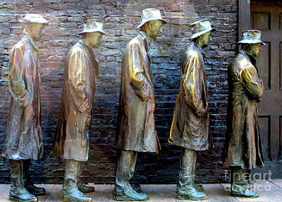 Bread Line Photograph - Fdr Memorial 4 by Randall Weidner