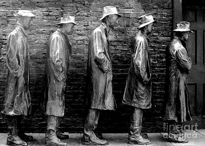 Bread Line Photograph - Fdr Memorial 5 by Randall Weidner