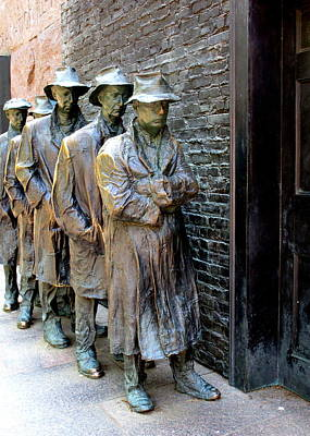 Bread Line Photograph - Fdr Memorial 6 by Randall Weidner