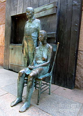 Bread Line Photograph - Fdr Memorial 9 by Randall Weidner
