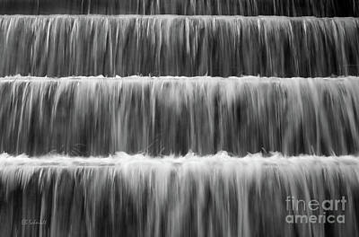 Photograph - Fdr Memorial Waterfall by E B Schmidt