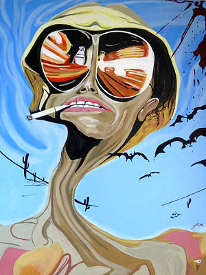 Hunter S. Thompson Painting - Fear And Loathing In Las Vegas by Justin Robertson