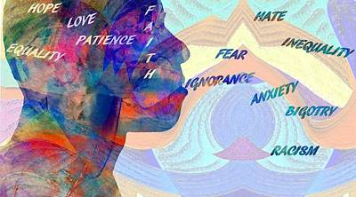 Fear Breeds Hate Art Print by Dan Sproul