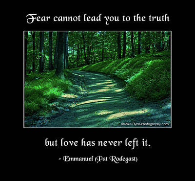 Photograph - Fear Cannot Lead You To The Truth by Mike Flynn