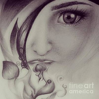 Soulful Eyes Drawing - Fear by Christina -