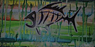 Bonefish Digital Art - Fear No Fish by Tracy McDurmon