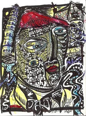 Post Modernism Mixed Media - Fear Of Falling by Robert Wolverton Jr