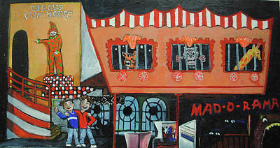 Asbury Park Casino Painting - Fear Of The Familiar by Patricia Arroyo