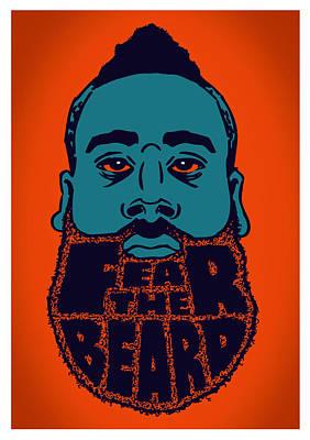 Fear The Beard Print by Jack Perkins