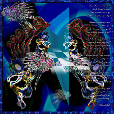 Digital Art - Fearful Symmetry by Kenneth Armand Johnson