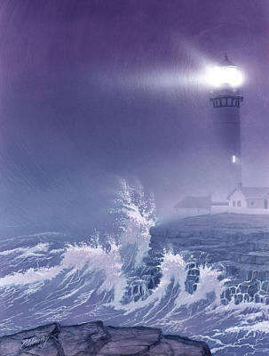 Storms Painting - Fearless - Psalm 27 by Cliff Hawley