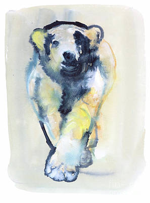 Paws Painting - Fearless, 2015 by Mark Adlington