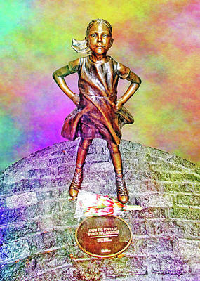 Photograph - Fearless Girl 4 by Nishanth Gopinathan