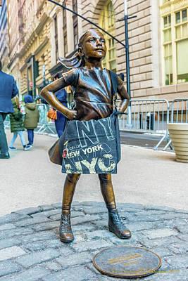 Vandalize Photograph - Fearless Girl - Wall Street Little Girl by Ivan Santiago