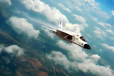 Cuban Missile Crisis Digital Art - Fearless Ra-5c Vigilante by Peter Chilelli