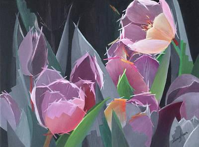 Fearless Tulips Original by Nancy Shen