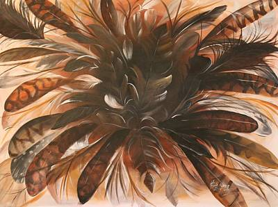 Painting - Feather Bloom by Henry Blackmon