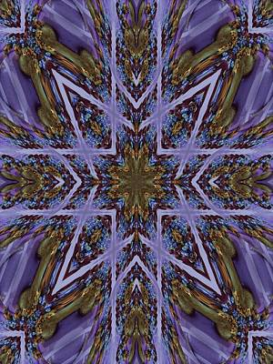 Feather Cross Art Print by Ricky Kendall