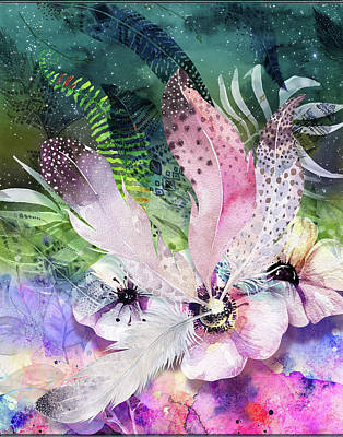 Digital Art - Feather Fantasy by Linda Carruth