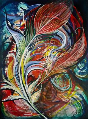 Painting - Feather Fury by Jan VonBokel