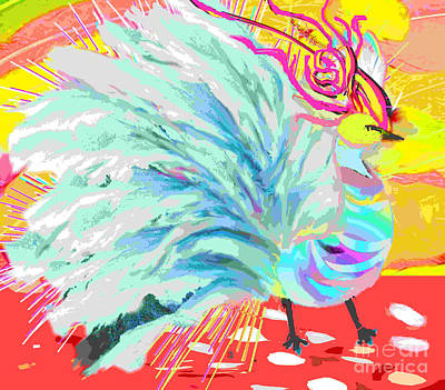 Painting - Feather Gala by Belinda Threeths
