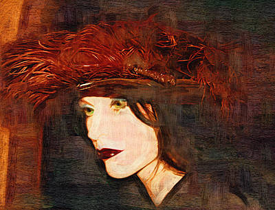 Feather Hat Original by Holly Ethan