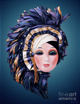 Digital Art - Feather Hat by Walter Colvin