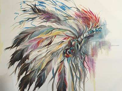 Feather Hawk Original by Heather Roddy