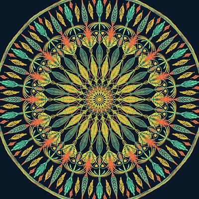 Digital Art - Feather Mandala II by Ronda Broatch