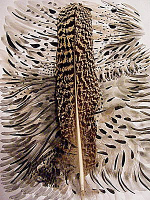 Mixed Media - Feather by Nancy Kane Chapman