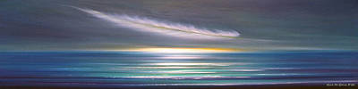 Painting - Feather Panoramic Sunset by Gina De Gorna