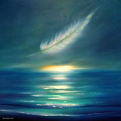 Painting - Feather Sunset Square Painting by Gina De Gorna