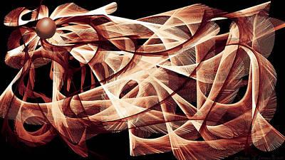 Digital Art - Featherball  by ThomasE Jensen