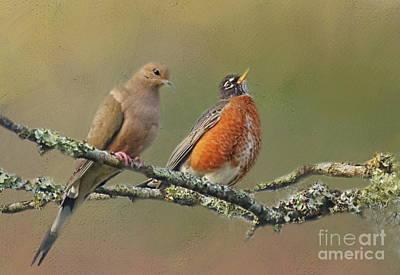 Photograph - Feathered Friends by Myrna Bradshaw