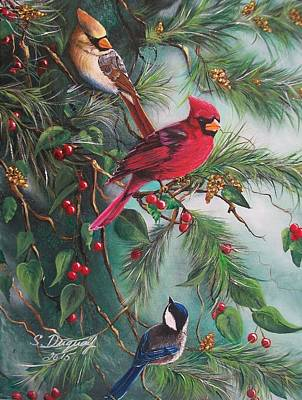 Feathered Friends  Original by Sharon Duguay
