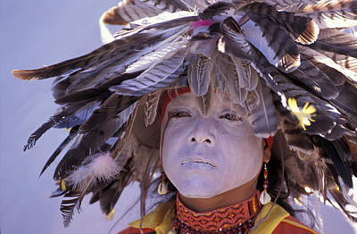 Pow Wow Photograph - Feathers by Christian Heeb
