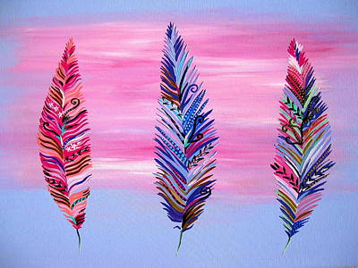 Lilac Drawing - Feathers II by Cathy Jacobs