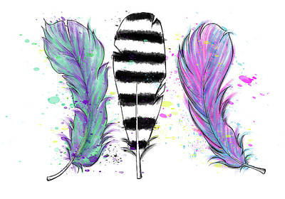 Digital Art - Feathers by Lizzy Love
