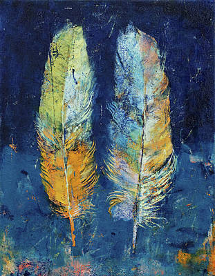 Fed Painting - Feathers by Michael Creese