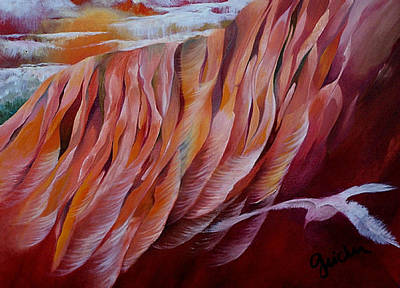 Feathers Art Print by Peggy Guichu