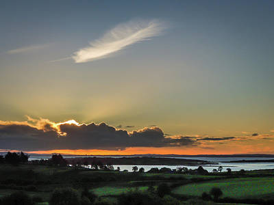Photograph - Feathery Cloud Over Shannon Estuary by James Truett